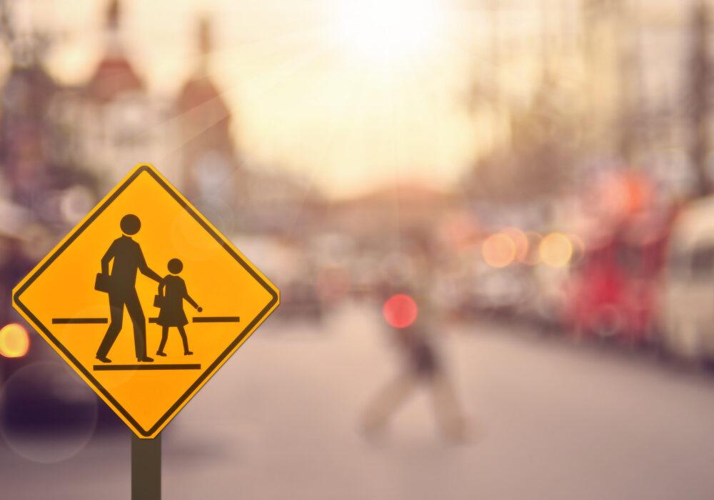 pedestrian student